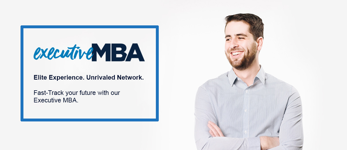Executive MBA Master of Business Administration Elite Experience Unrivaled Network Fast-Track your future with our Executive MBA Connecticut UConn